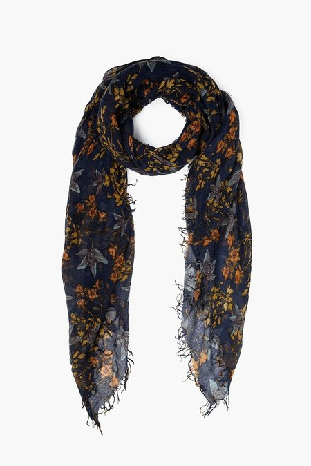 Chan Luu Cashmere and Silk Scarf - Outer Space Floral