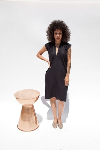 Miranda Bennett In-Stock: Everyday Dress, Silk Noil in Black