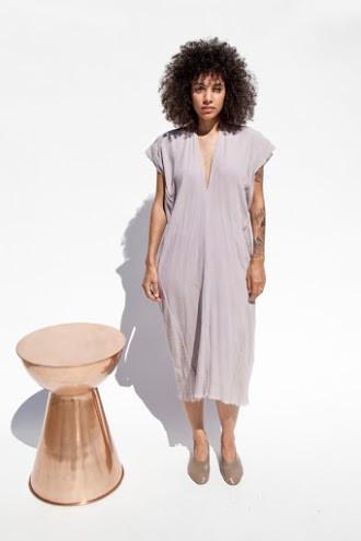 Miranda Bennett Vision Dress, Lined Cotton Gauze in Salton