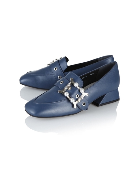 Yuul Yie Leather Flats - Navy