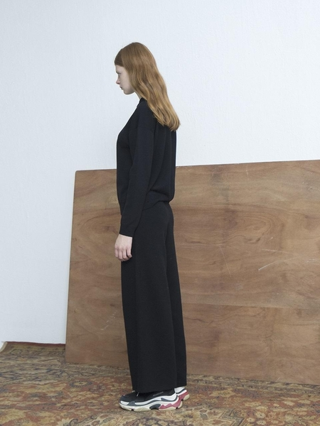 MOONHEE Wide Pants - Black