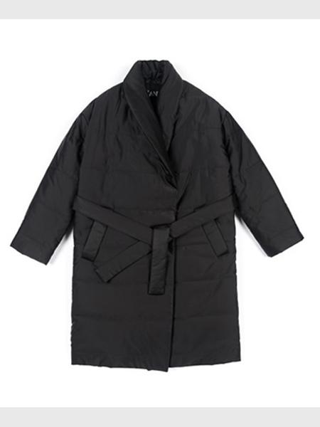 Blank Padding Coat - Black/Khaki