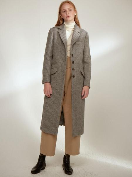 CLOCLOTHES Clo Evie Herringbone Single Coat