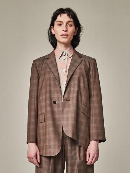 Bouton Old Man Blazer - Brown Check