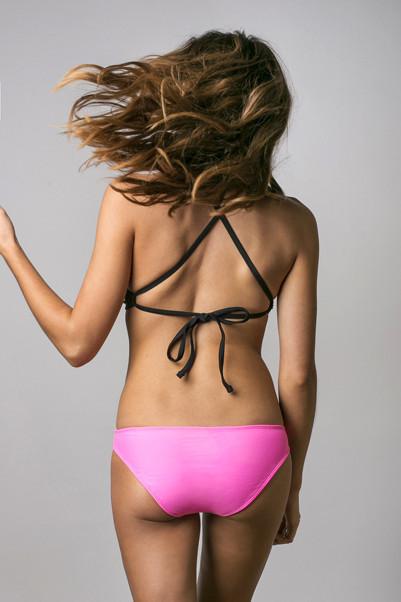 June Swimwear Java Black Top