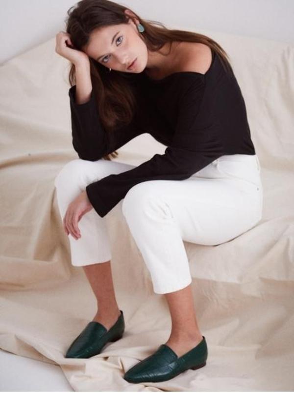 BY MINA ^ Wani Spring Loafer-Green Wani
