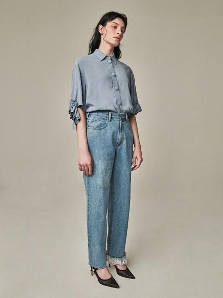 Bouton Walker Denim Pants - Blue
