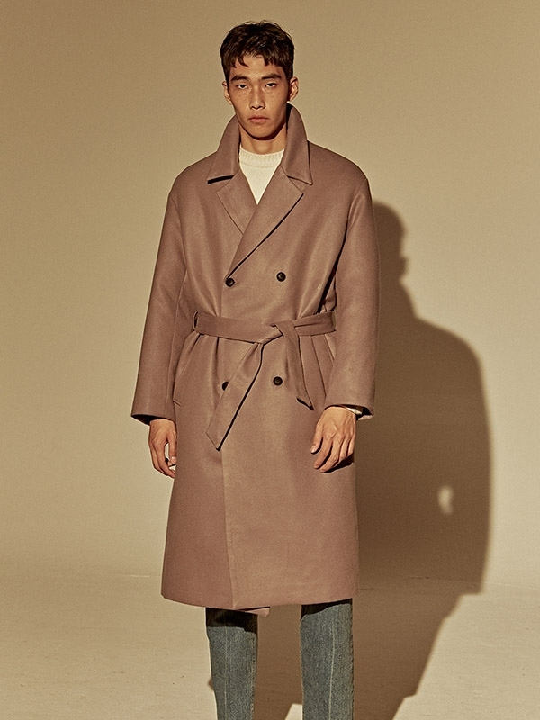 Deans Wool Over Fit Double Coat - Cocoa