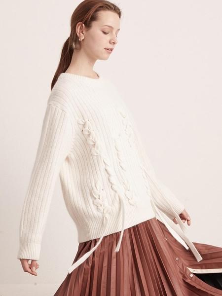 BEMUSEMANSION Angora Taped Knitwear - Ivory