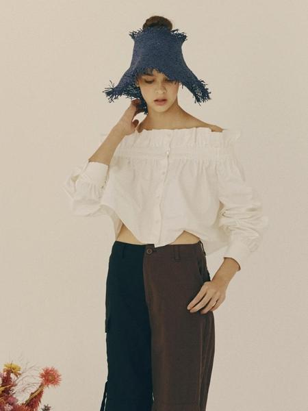 fleamadonna Off Shoulder Cropped Shirt