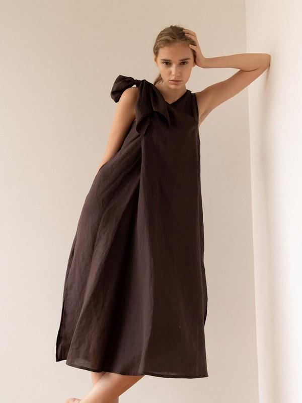KEUNI Jill Linen Hot Summer Dress