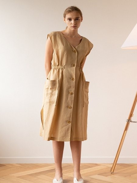KEUNI Moa Summer Linen Dress And Beach Cover-Up