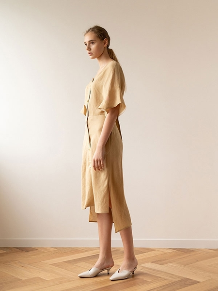 KEUNI NUA Premium Linen And Beach Cover-Up Summer Dress