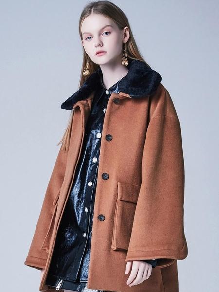 Blank Dolly Faux Fur Coat - Beige