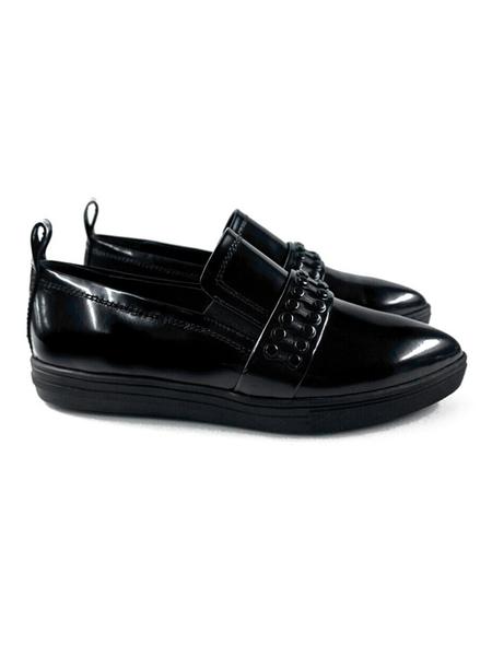 MODERN ALCHEMIST Alchemist Metal Line Loafers - Black