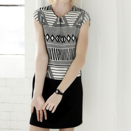 Melissa Nepton Taryn Dress in Black and White