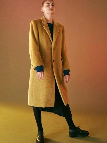 Bouton Single Coat - Camel