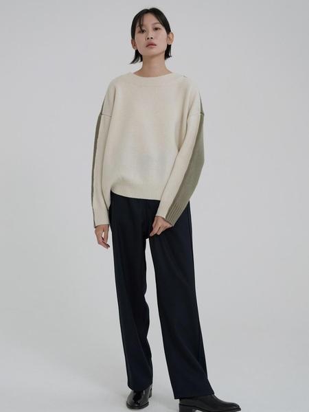 MOIA 2way Knit - Ivory/Khaki