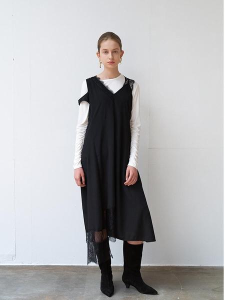 DIAGONAL Lace Slip Dress