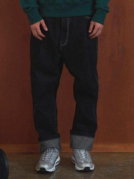 MSKN2ND Back Banding Denim Pants - Black