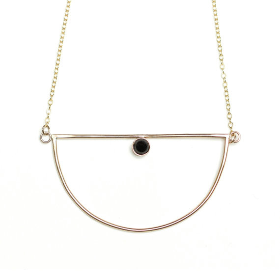 Hart + Stone Evanescent Necklace - Gold & Onyx