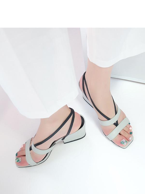 MOL:pin Strap Blue Keyhole Sandal