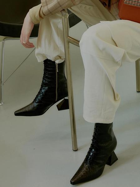 YUUL YIE Gloria Glam Heel Boots - Black Croc