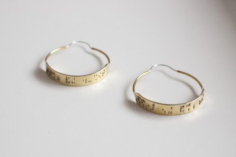 """Patricia Earrings - """"touch my butt and buy me pizza"""""""
