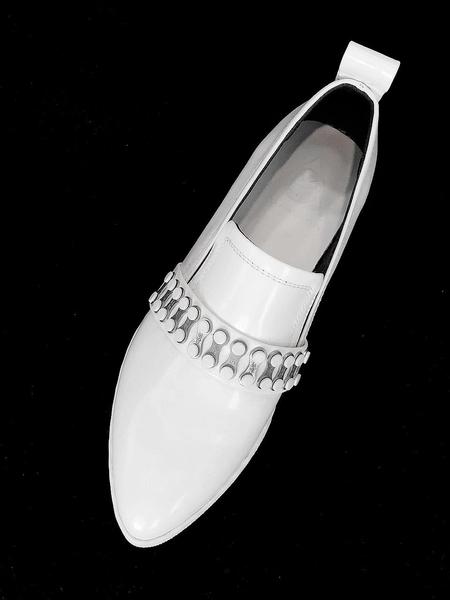 MODERN ALCHEMIST Alchemist Metal Line Loafers - White