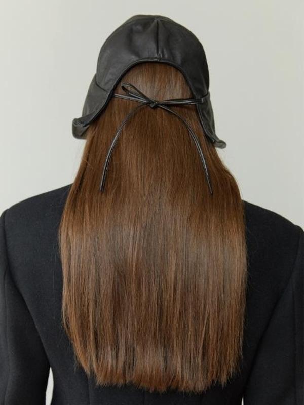 MOONTAN Leather Hat - Black