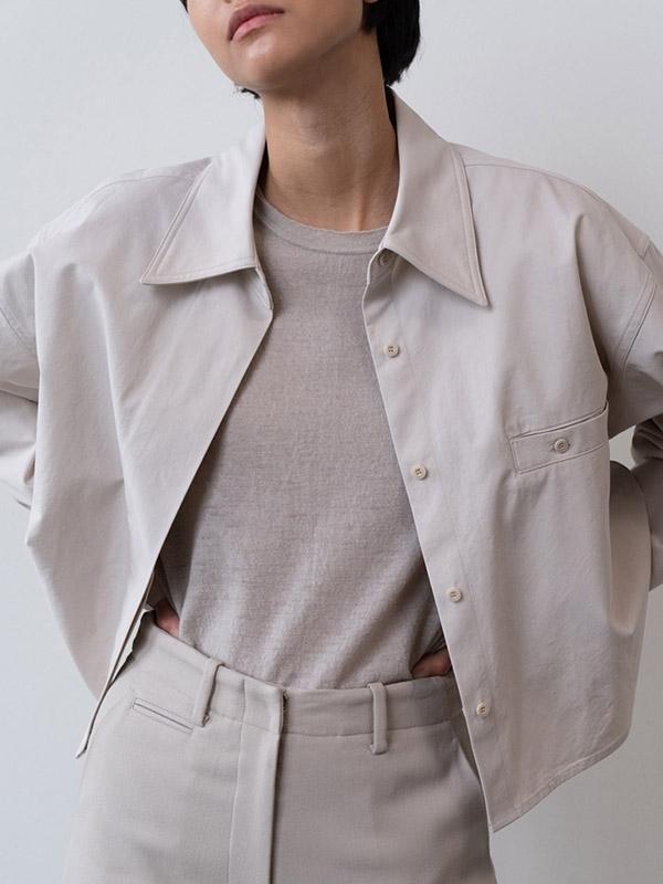 MOIA Crop Shirt - Ecru