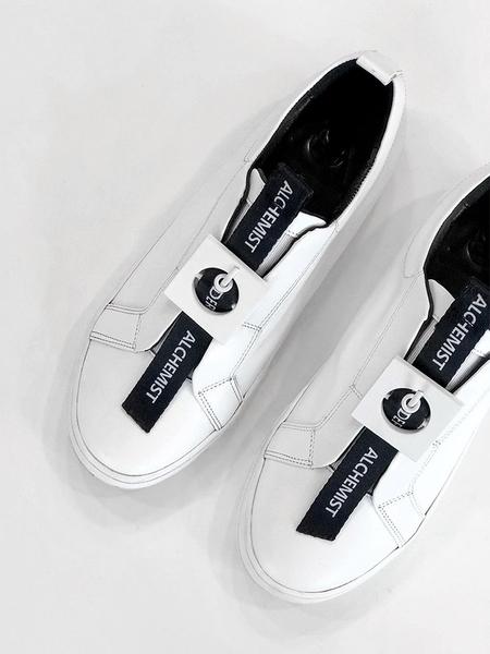 MODERN ALCHEMIST Lettering Ex Line Sneakers - White