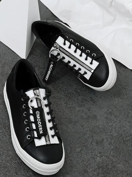 MODERN ALCHEMIST Lettering Line Sneakers - Black