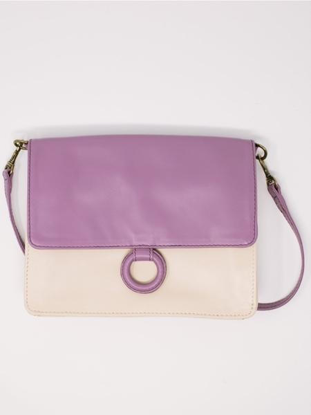 Payton James Wallet Crossbody Bag - Summer White/ Lavender