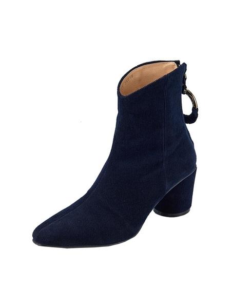 Reike Nen Oblique Turnover Ring Boots - Navy