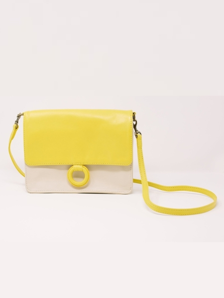 Payton James Wallet Crossbody - Summer White/Lemon