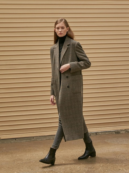 COLLABOTORY Double Check Trench Coat