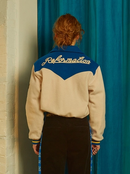 fleamadonna Reformation Embroidery Jacket - Ivory