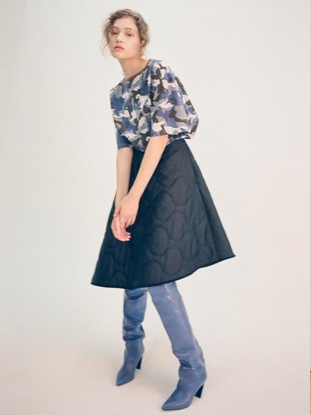 fleamadonna Military Padding Skirt - Black
