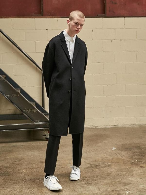 Unisex Collabotory Oversized Handmade Wool Coat - Black