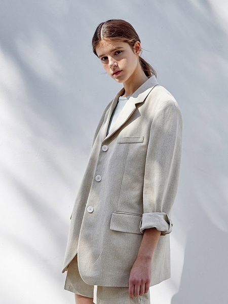HIER Linen Jacket - Beige