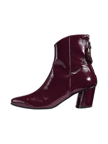 Reike Nen Oblique Turnover Ring Boots - Burgundy
