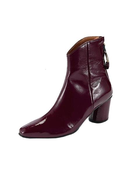 Reike Nen Oblique Turnover Ring Boots - Burgundy