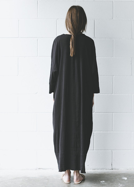 Black Crane - Kaftan Dress in Black