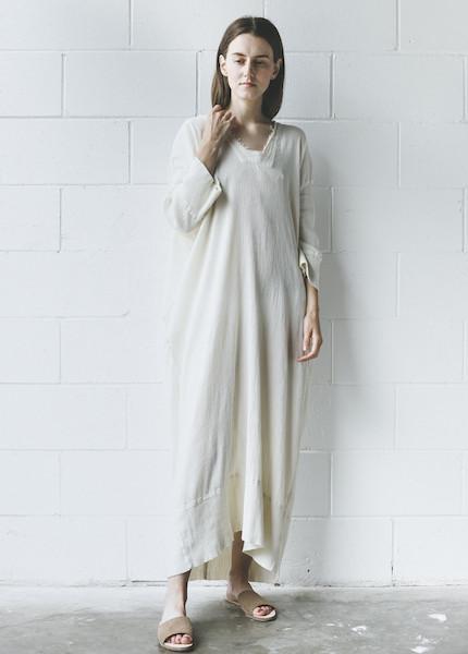 Black Crane - Kaftan Dress in Cream