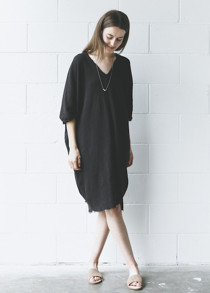 Black Crane - Origami Dress in Black