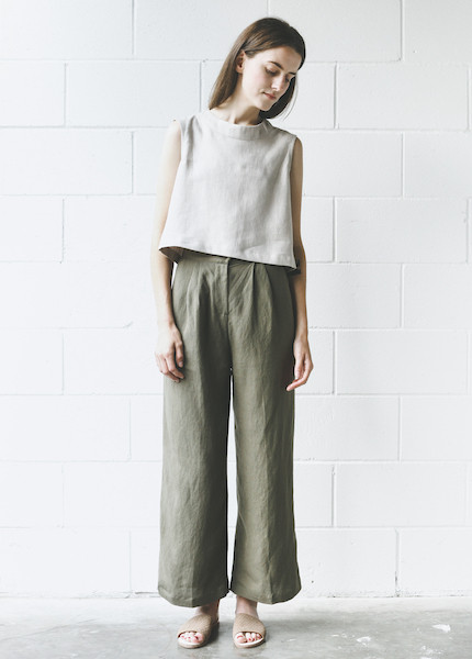 First Rite Wide Trouser - Army