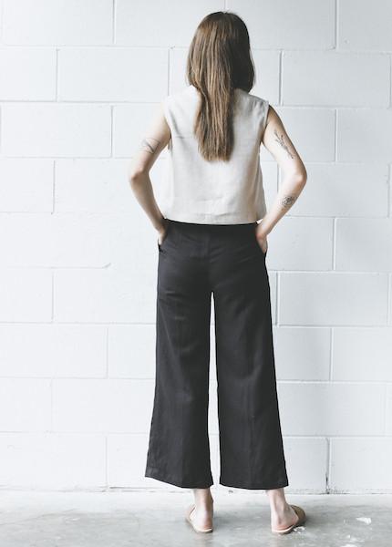 First Rite  Wide Trouser - Black