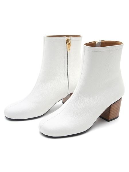KAREN WHITE Blur Boots - White