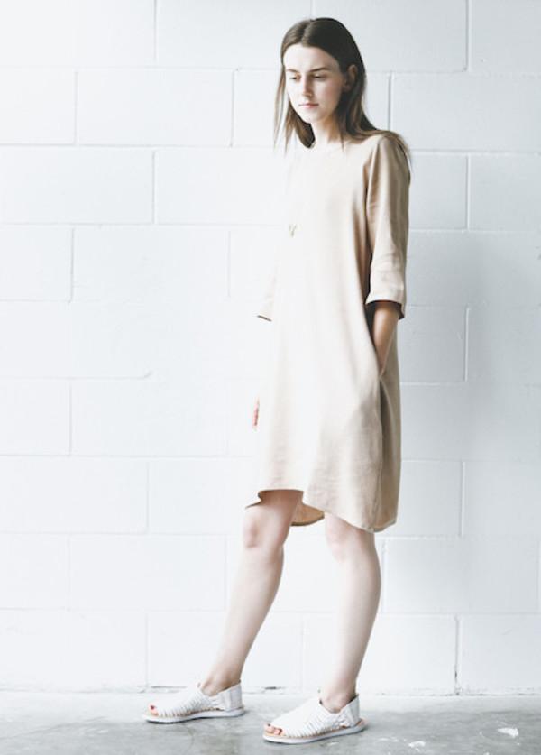 Zii Ropa Cienna Shift Dress - Tan